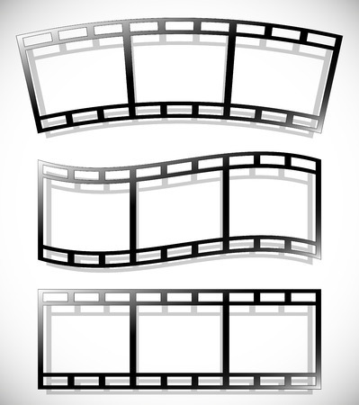 perforation tape: Set of 35 mm filmstrips for photography concepts.