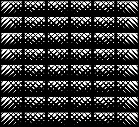 randomness: Abstract minimal pattern in black and white seamless background. Illustration