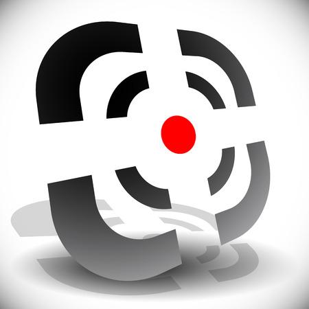 alignment: Punto de mira, icono de ret�cula para la exactitud, la alineaci�n, la orientaci�n conceptos. Vectoriales editables.