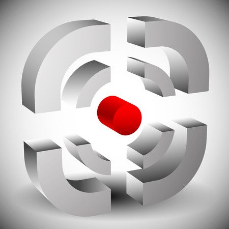 marksmanship: Crosshair, reticle icon for accuracy, alignment, targeting concepts. Editable vector.