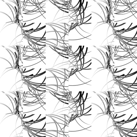 repeatable: Wavy lines repeatable pattern. Black and white vector background