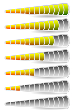 capacity: Progress, loading bars. Horizontal bars for measurement, comparison.