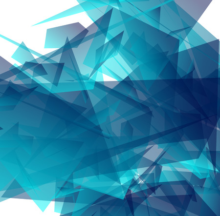 digital art: Abstract digital art with edgy shapes. Vector illustration.