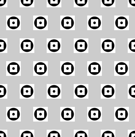 repeatable: Pattern with circles and squares. Repeatable. Vector illustration.