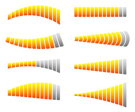 yardstick: Progress, loading bars. Horizontal bars for measurement, comparison.