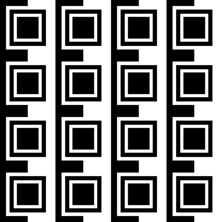 alternating: Squares abstract pattern. Monochrome, seamlessly repeatable checkered pattern with alternating squares.