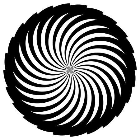 radiating: Forma de espiral abstracta, motivo. vector. El giro, curvas que irradia l�neas.