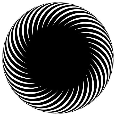 espiral: Forma de espiral abstracta, motivo. vector. El giro, curvas que irradia líneas.