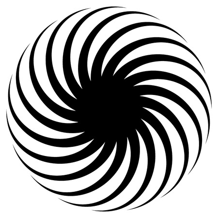 radiating: Abstract spirally shape, motif. vector. Twirling, curved radiating lines. Illustration