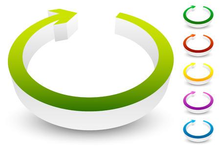 rotate icon: Circular arrow clockwise. Editable vector. Arrow icon, arrow button.