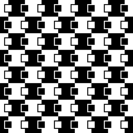 seamlessly: Squares abstract pattern. Monochrome, seamlessly repeatable checkered pattern with alternating squares.