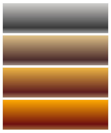 metalic sheet: Set of metal plaques, banners with blank space. Editable vector.