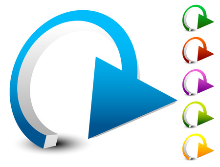 Circular arrow clockwise. Editable vector. Arrow icon, arrow button.