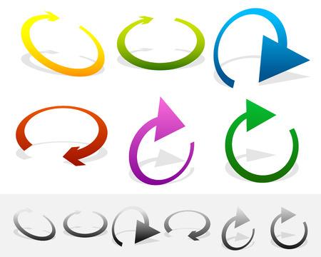 Circular arrow clockwise. Editable vector. Arrow icon, arrow button.
