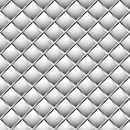 Seamless, repeatable patterns with beveled squares. Abstract grayscale, monochrome revetment background. vector. Illustration
