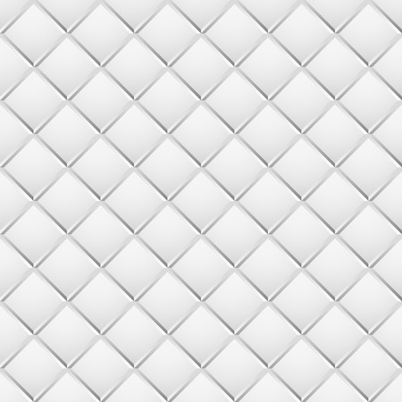revetment: Seamless, repeatable patterns with beveled squares. Abstract grayscale, monochrome revetment background. vector. Illustration