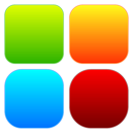 baner: Colorful button templates with blank space, rounded corners.