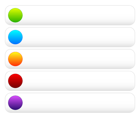 blank space: Colorful button templates with blank space, rounded corners.