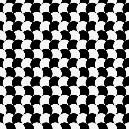 billowy: Circles seamless pattern. Black and white abstract background. Repeatable.