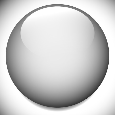 blank space: Sphere, circle buttons with blank space and glossy effect