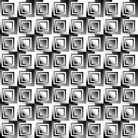 alternating: Squares abstract geometric pattern. Grayscale, seamlessly repeatable checkered pattern with alternating squares.