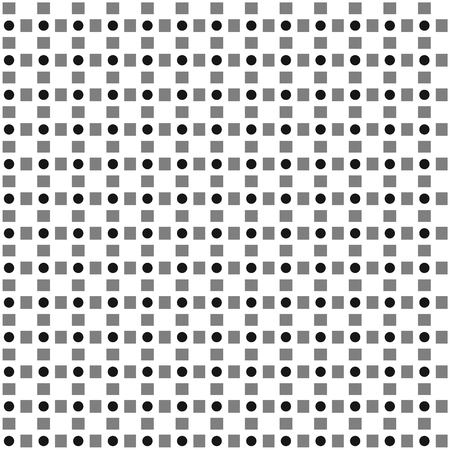 alternating: Vector pattern of alternating squares and circles. Repeatable.