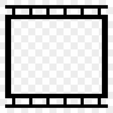 filmroll: Black and white filmstrip, photo strip vector graphics. Illustration