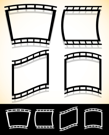 photo strip: Black and white filmstrip, photo strip vector graphics. Illustration