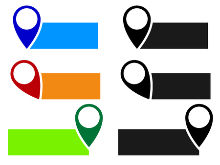 Map pin, map marker vector. Arrow, pointer icon for cartography, location, destination concepts...