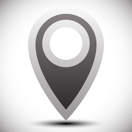 pinpoint: Map pin, map marker vector. Arrow, pointer icon for cartography, location, destination concepts...
