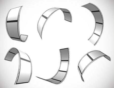 perforation tape: Film strip vector graphics for photography concepts