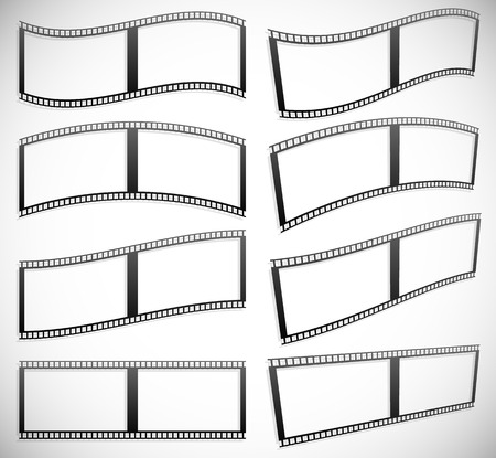 perforation: Film strip vector graphics for photography concepts