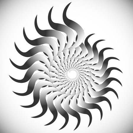 twirling: Abstract spinning, twirling graphics with rotating shapes. Spiraling, swirling element. Illustration