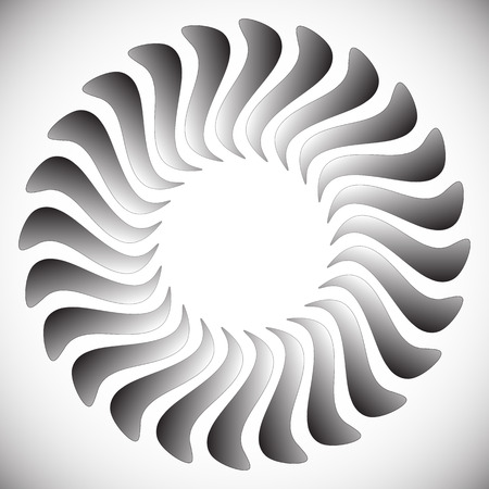 spiraling: Abstract spinning, twirling graphics with rotating shapes. Spiraling, swirling element. Illustration