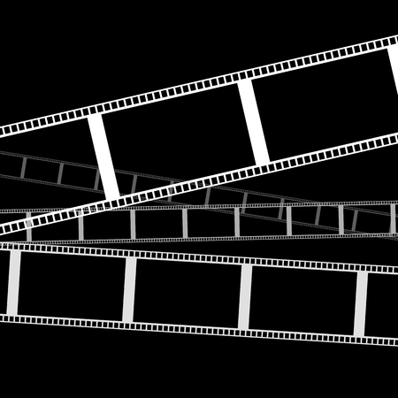 roll film: Cine gr�ficos franja vectoriales para fotograf�a conceptos