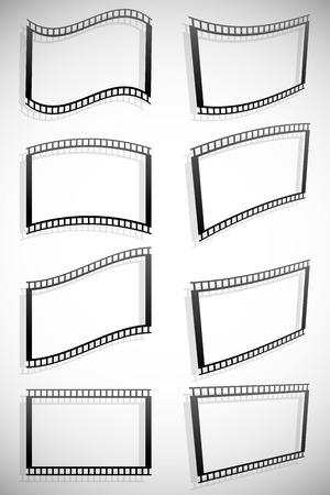 filmroll: Film strip vector graphics for photography concepts