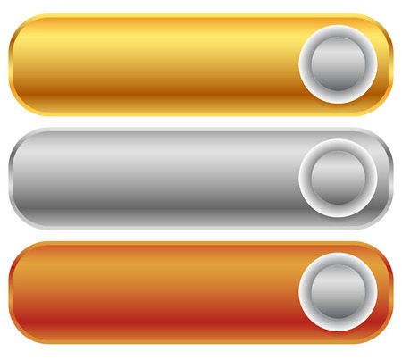 silver bars: Gold, silver, bronze bars, banners. Editable vector. Illustration