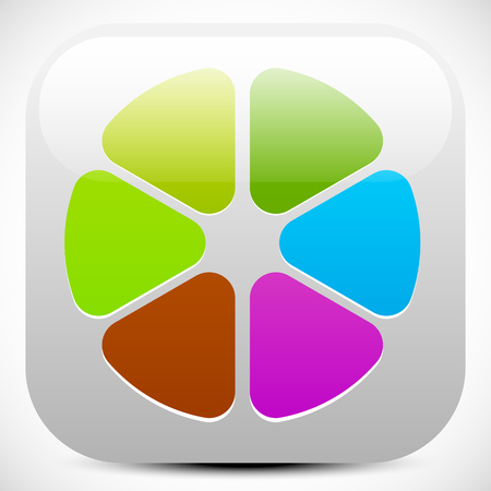 sampler: Abstract colorful icon, color wheel, color palette graphics. editable vector