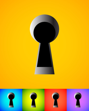 empty keyhole: Keyhole graphics for secrecy, privacy concepts. editable vector. Illustration