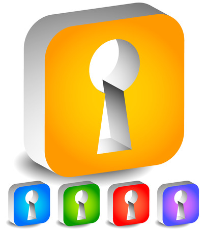 private access: Keyhole graphics for secrecy, privacy concepts. editable vector. Illustration