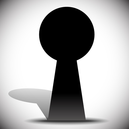 observations: Keyhole graphics for secrecy, privacy concepts. editable vector. Illustration