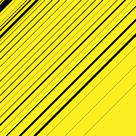 thickness: Black and yellow diagonal lines with different thickness. Abstract vector background