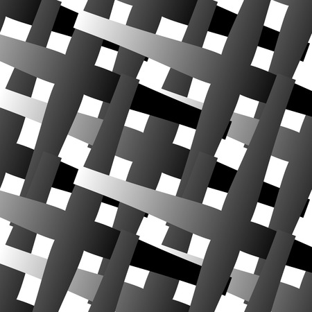 crosses: Abstract geometric pattern with overlapping crosses, black and white vector background Illustration