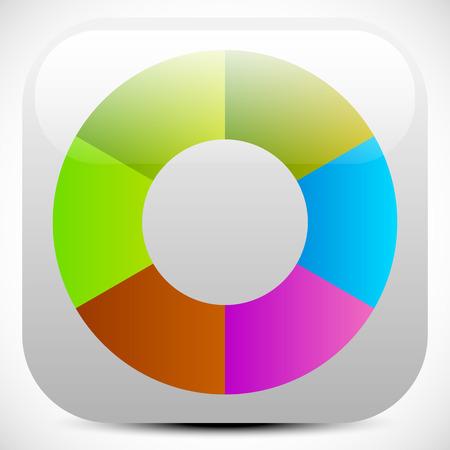 color palette: Colorful icon, color wheel, color palette graphics. editable vector Illustration
