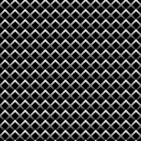 contrasty: Seamless pattern made of squares with gradient fills. Black and white vector background.