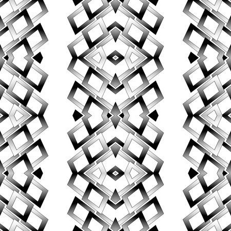 Abstract grayscale, black and white geometric pattern. editable vector.
