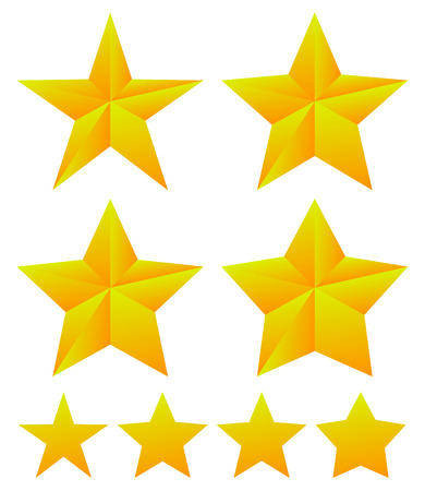 thickness: Set of star shapes with different thickness.