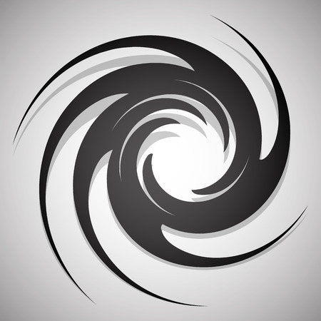 Abstract twisting, circular shape isolated on white.
