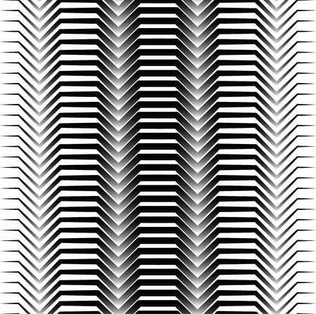 seamlessly: Black and white horizontal zigzag lines abstract pattern. Seamlessly repeatable. Vector.