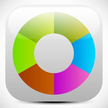 Colorful icon, color wheel, color palette graphics. editable vector Ilustração
